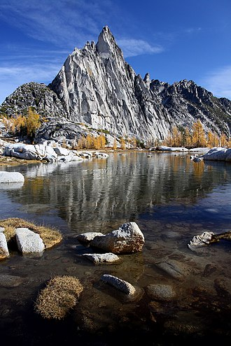 Alpine Lakes Wilderness - Gnome Tarn and Prusik Peak in The Enchantments.