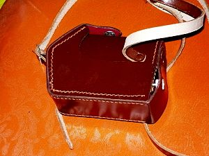 Goerz Minicord - Goerz minicordn deluxe  leather case