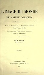 Gautier de Metz: L'Image du monde de maitre Gossuin