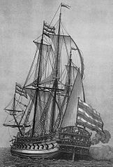 The Goto Predestinatsia, flagship of the Azov fleet of the Imperial Russian Navy until 1711