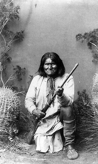 Tribal chief - Goyathlay, or Geronimo, Apache chieftain for the Chiricahua.