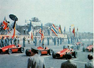 Italian Grand Prix - 1953 GP race start