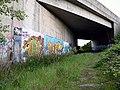 Graffiti as an old railway passes under the Edinburgh Bypass - geograph.org.uk - 61797.jpg