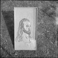 Granada Relocation Center, Amache, Colorado. Woodcarving - Head of Christ - by K. Kamoda, Granada P . . . - NARA - 539909.tif