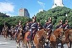Regimiento de Granaderos a Caballo, creado por San Martín en la Guerra de Independencia