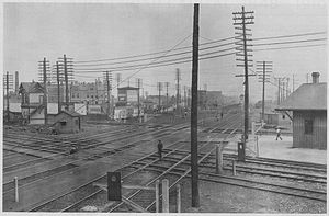 Greater Grand Crossing, Chicago - 1902 view of crossing, before grade separation