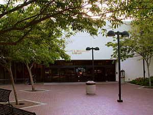 Grant R. Brimhall Library - Main entrance, Grant R. Brimhall Library