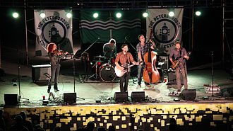 Great Lake Swimmers - Great Lake Swimmers on stage at the Peterborough Folk Festival in 2014