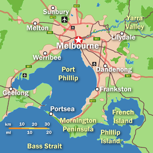 A simple PNG format map of Greater Melbourne
