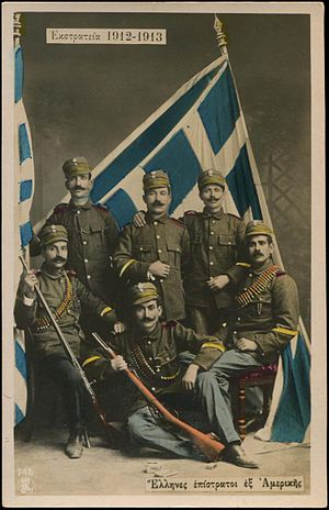 Greek Americans - Greek-American volunteers in the Balkan Wars