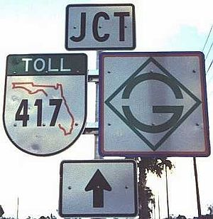 Florida State Road 417 - GreeneWay shield, formerly used in Orange County