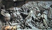 Деталь надгробья папы Григория XIII, посвященная введению Григорианского календаря