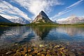 Grinnell Point and Swiftcurrent Lake in Glacier National Park, Montana, U.S.A.jpg