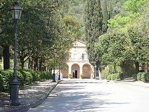 Monsummano Terme - Entrance to the Grotta Giusti spa.