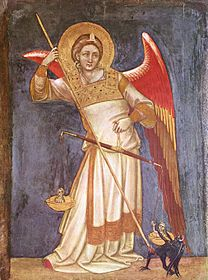 guariento, archangel, 1350, angel, judgement, justice, story