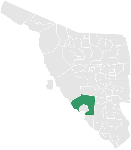 Map of the municipality in Sonora Guaymas en Sonora.png