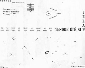 Calligrammes - Image: Guillaume Apollinaire Voyage