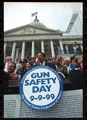 Wellington Webb - Image: Gun Safety Day