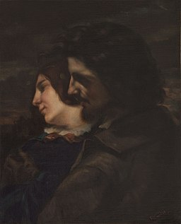 Gustave Courbet - Lovers in the Country, Sentiments of the Young Age - WGA05484