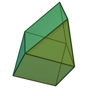 Gyrobifastigium Johnson solid