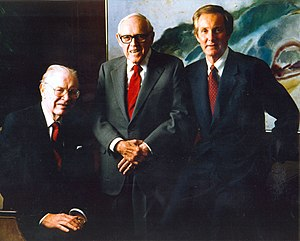 Hospital Corporation of America - HCA founders (left to right) Dr. Thomas Frist Sr., Jack Massey, Dr. Thomas Frist Jr.