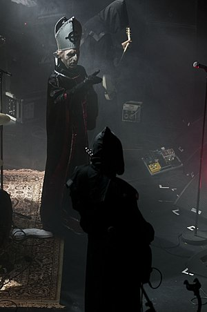 Ghost (Swedish band) - Ghost on stage in 2011 at Hole in the Sky