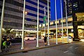 HK WCD Wan Chai North Harbour Road Central Plaza visitors footbridge view blue sky night July 2021 S66.jpg