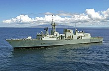 HMCS Regina (FFH 334) underway at sea on 6 July 2004 (040706-N-6811L-155).jpg