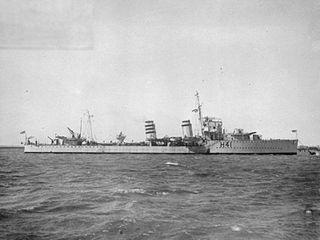 HMS <i>Ardent</i> (H41) A-class destroyer ship