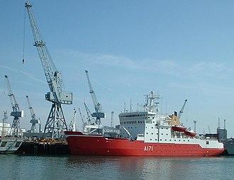 HMS Endurance (A171) - Image: HMS Endurance, Portsmouth
