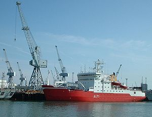 HMS Endurance in Portsmouth Harbour