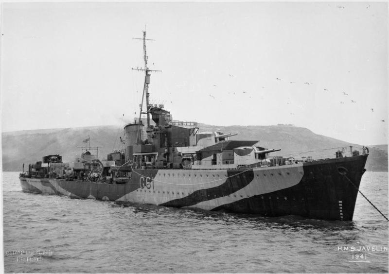 HMS Javelin 1941 IWM FL 10524