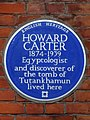 HOWARD CARTER 1874-1939 Egyptologist and discoverer of the tomb of Tutankhamun lived here.jpg