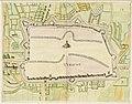 HUA-214024-Plattegrond van de stad Utrecht met directe omgeving; met weergave van de verdedigingswerken; met wegen watergangen en gestileerde weergave van de beb.jpg