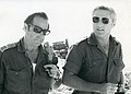 Haim Gouri and Shlomo Lahat, October 1973.jpg