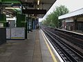 Hainault station platform 2 look north2.JPG