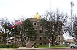 The Hale County Courthouse in Plainview