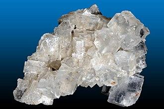 Salt - Halite (rock salt) from the Wieliczka salt mine, Małopolskie, Poland