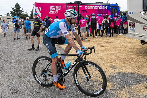 Hamish Schreurs of Israel Cycling Academy after the finish of Stage 3 in Morgan Hill (48068917698)