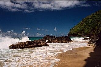 Hanakapiai Beach - Image: Hanakapiai Beach, Na Pali Coast, Kauai, Hawaii