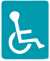 Handicap parking (Israel road sign).png