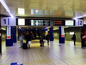 Haneda Airport Domestic Terminal Station - The platforms, March 2015