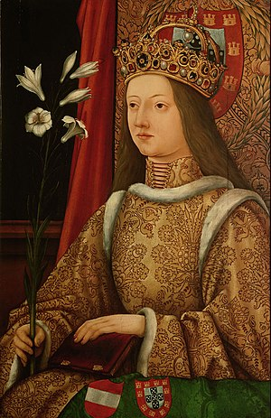 Eleanor of Portugal, Holy Roman Empress - Portrait probably by Hans Burgkmair the Elder