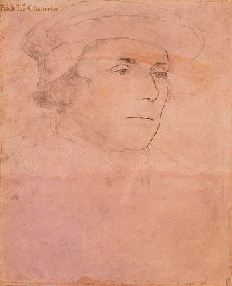 Richard Rich, 1st Baron Rich - Image: Hans Holbein the Younger Sir Richard Rich, later 1st Baron Rich RL 12238