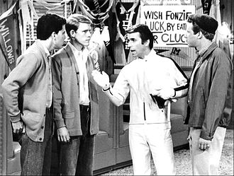 Happy Days - Potsie, Richie, Fonzie, and Ralph Malph at Arnold's