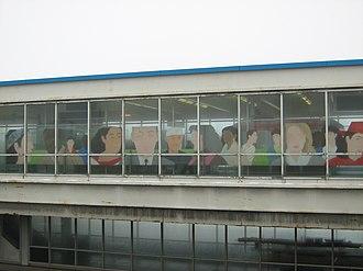 Harlem station (CTA Blue Line O'Hare branch) - Image: Harlem Artwork