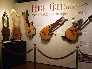Harp guitar - Image: Harp Guitars 2, Museum of Making Music