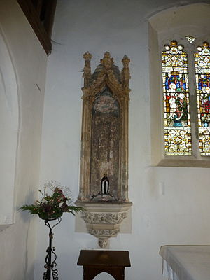 Harty - Image: Harty Church, niche beside high altar