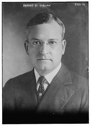 Harvey Dow Gibson - Harvey Dow Gibson in 1917