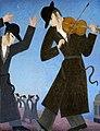 Hasidic jewish fiddler, Homage to Daniel Ahaviel.jpg